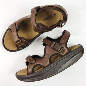 [MBT] Women's Kisumu 3S Sandals Brown Leather NEW